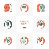 Επόμενα εικονίδια Futuro Mindfulness ελεύθερη απεικόνιση δικαιώματος