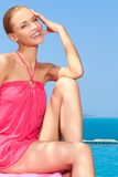 επόμενη τοποθέτηση λιμνών μόδας στη γυναίκα Στοκ φωτογραφία με δικαίωμα ελεύθερης χρήσης