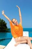 επόμενη τοποθέτηση λιμνών μόδας στη γυναίκα Στοκ εικόνα με δικαίωμα ελεύθερης χρήσης