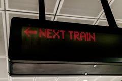 επόμενο τραίνο Στοκ φωτογραφίες με δικαίωμα ελεύθερης χρήσης