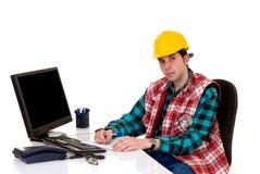 επόπτης γραφείων κατασκευής Στοκ Εικόνα