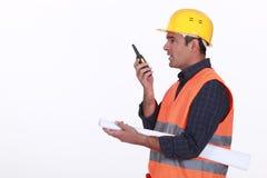 Επόπτης εργοτάξιων οικοδομής στοκ φωτογραφία με δικαίωμα ελεύθερης χρήσης