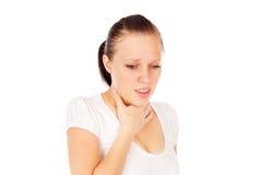 Επώδυνος λαιμός κοριτσιών στοκ φωτογραφίες με δικαίωμα ελεύθερης χρήσης