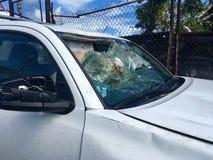 Ερήμωση τυφώνα σε StThomas, καραϊβικό στοκ εικόνα με δικαίωμα ελεύθερης χρήσης