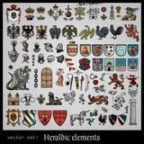 Εραλδικά στοιχεία διάφορα Στοκ εικόνα με δικαίωμα ελεύθερης χρήσης