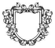 Εραλδική ασπίδα οικογενειακών ιπποτών CREST καλύψεων των όπλων διανυσματική απεικόνιση
