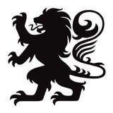 Εραλδικό διάνυσμα λογότυπων λιονταριών διανυσματική απεικόνιση
