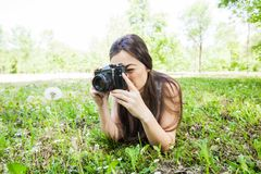 Ερασιτεχνική φύση φωτογράφων στοκ φωτογραφία