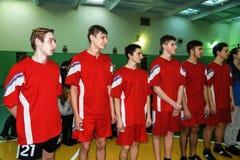 Ερασιτεχνικοί αθλητικοί ανταγωνισμοί στην πετοσφαίριση, τις αθλητικές οργανώσεις και τη ρωσική Ορθόδοξη Εκκλησία στην περιοχή Gom Στοκ Εικόνα