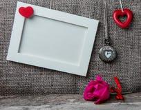 εραστές αγάπης καρδιών πλαισίων Στοκ Φωτογραφίες