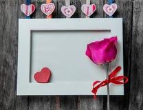 εραστές αγάπης καρδιών πλαισίων Στοκ εικόνα με δικαίωμα ελεύθερης χρήσης