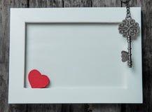 εραστές αγάπης καρδιών πλαισίων Στοκ Εικόνα