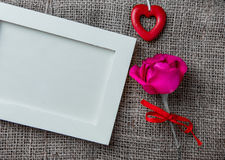 εραστές αγάπης καρδιών πλαισίων Στοκ Εικόνες
