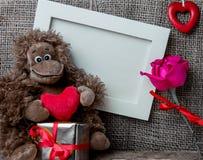 εραστές αγάπης καρδιών πλαισίων Στοκ φωτογραφία με δικαίωμα ελεύθερης χρήσης