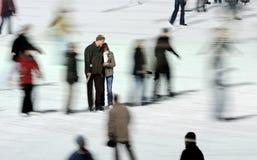 εραστές που κινούν τους  Στοκ Φωτογραφία