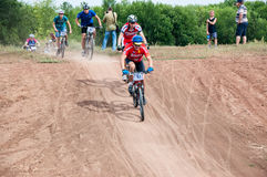 Εραστές ποδηλατών ανταγωνισμού Στοκ Φωτογραφίες