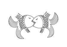 Εραστές ψαριών επίσης corel σύρετε το διάνυσμα απεικόνισης Στοκ Φωτογραφίες