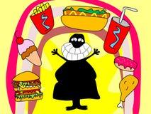 Εραστής άχρηστου φαγητού Ελεύθερη απεικόνιση δικαιώματος