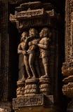 Εραστής στο ναό ήλιων Orissa στοκ εικόνα