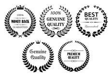 Εραλδικά εκλεκτής ποιότητας στεφάνια με το κείμενο Στοκ Εικόνα