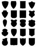 εραλδικές ασπίδες Στοκ εικόνες με δικαίωμα ελεύθερης χρήσης