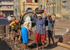 Εργάτες οικοδομών γυναικών Στοκ Φωτογραφία