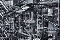 Εργάτες οικοδομών και βιομηχανία κτηρίου στοκ φωτογραφίες με δικαίωμα ελεύθερης χρήσης