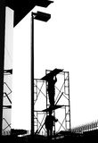 Εργάτες οικοδομών οικοδόμων ικριωμάτων Στοκ εικόνα με δικαίωμα ελεύθερης χρήσης