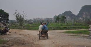 Εργάτες οικοδομών στο Βιετνάμ Στοκ Φωτογραφία