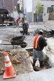 Εργάτες οικοδομών στο Μανχάταν Στοκ εικόνα με δικαίωμα ελεύθερης χρήσης