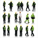 Εργάτες οικοδομών απεικόνιση αποθεμάτων