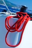 Εργάτης με το κόκκινο σχοινί Στοκ Φωτογραφίες