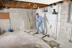 Εργάτης οικοδομών αναδόχου Handyman Στοκ Φωτογραφία