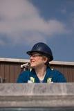 Εργάτης οικοδομών γυναικών στοκ εικόνες