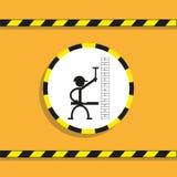 Εργάτης οικοδομών με το επίπεδο σφυριών και πνευμάτων διάνυσμα εικονιδίων εργαλείων Στοκ φωτογραφίες με δικαίωμα ελεύθερης χρήσης