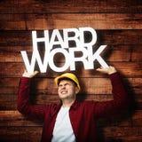 Εργάτης οικοδομών εργατικός Στοκ εικόνα με δικαίωμα ελεύθερης χρήσης