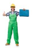 Εργάτης που απομονώνεται βιομηχανικός Στοκ Εικόνα