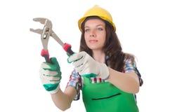 Εργάτης που απομονώνεται βιομηχανικός Στοκ Εικόνες