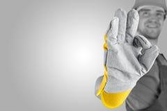 Εργάτης που κάνει μια τέλεια χειρονομία Στοκ Εικόνα