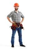 Εργάτης στο πορτοκαλί σκληρό καπέλο Στοκ Φωτογραφία