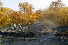 Εργαζόμενοι άνθρακα Στοκ φωτογραφία με δικαίωμα ελεύθερης χρήσης