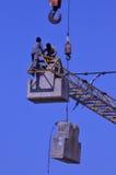 Εργαζόμενοι γερανών Στοκ Φωτογραφίες