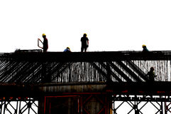 εργαζόμενοι εργοτάξιων οικοδομής Στοκ Φωτογραφίες