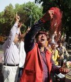 Εργαζόμενοι κομμάτων Bjp που γιορτάζουν κατά τη διάρκεια της εκλογής στην Ινδία Στοκ φωτογραφίες με δικαίωμα ελεύθερης χρήσης