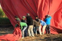 Εργαζόμενοι μπαλονιών ζεστού αέρα Στοκ Εικόνα