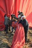 Εργαζόμενοι μπαλονιών ζεστού αέρα Στοκ Εικόνες