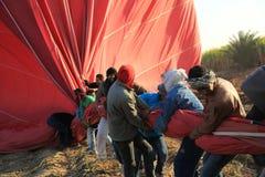 Εργαζόμενοι μπαλονιών ζεστού αέρα Στοκ εικόνα με δικαίωμα ελεύθερης χρήσης