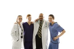 εργαζόμενοι πορτρέτου υγειονομικής περίθαλψης Στοκ εικόνα με δικαίωμα ελεύθερης χρήσης