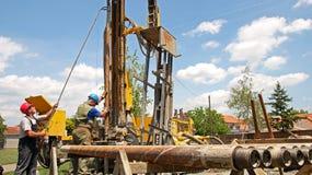 Εργαζόμενοι πλατφορμών άντλησης πετρελαίου Στοκ Εικόνες