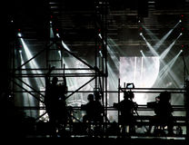 Εργαζόμενοι σκηνών συναυλίας στοκ φωτογραφίες με δικαίωμα ελεύθερης χρήσης